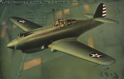 Fast New Curtiss P-40 Pursuit Plane, US Army Air Corps