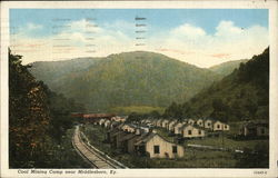 Coal Mining Camp Postcard