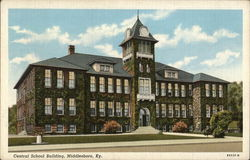 Central School Building Postcard
