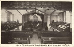 Interior First Mennonite Church, Looking West