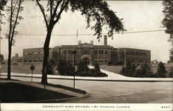 Community High School Postcard