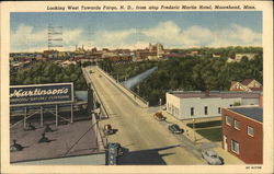 Looking West Towards Fargo, N.D. From Atop Frederic Martin Hotel