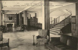 Lobby of Fred L. Keeler Union, Central State Teachers College