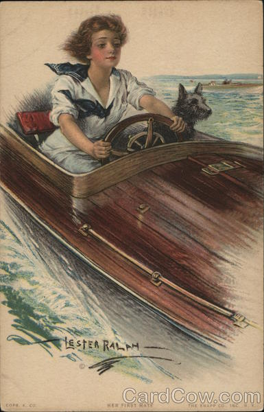 Her First Mate Ralph Lester Speedboats Scottish Terriers