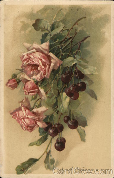 Roses and Cherries C. Klein Flowers