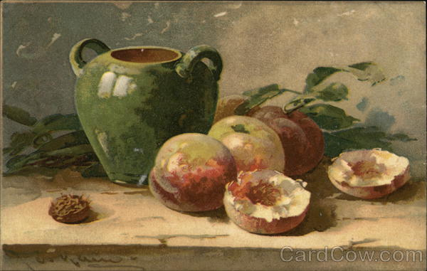 Still Life With Peaches C. Klein Art