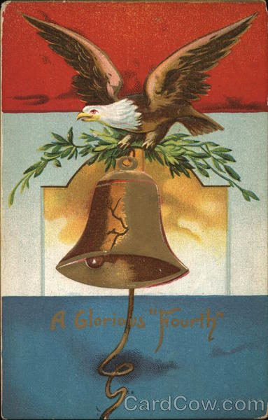 A Glorious Fourth - Eagle and Liberty Bell 4th of July