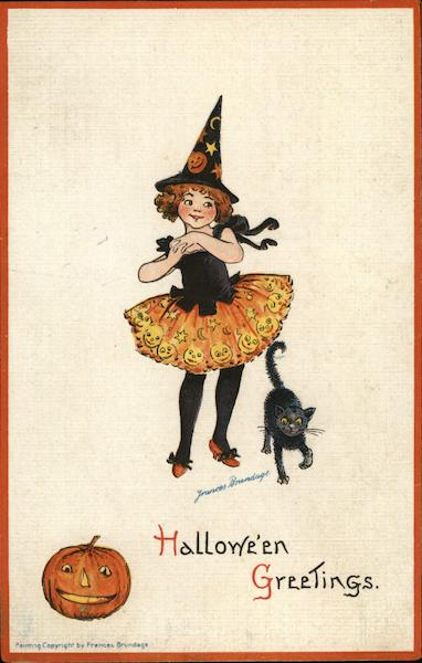 Halloween Greetings Frances Brundage