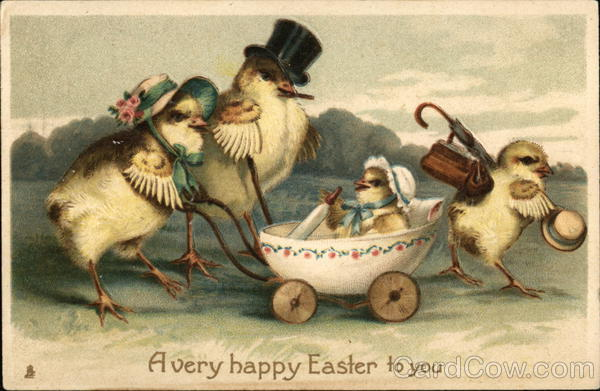 A Very Happy Easter To You With Chicks