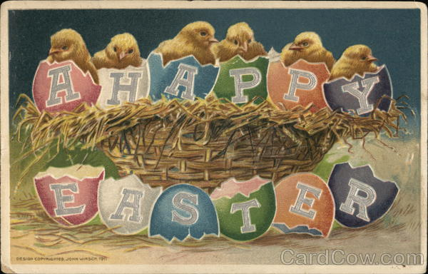 A Happy Easter John Winsch With Chicks