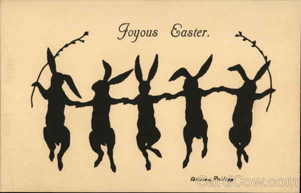 Joyous Easter With Bunnies