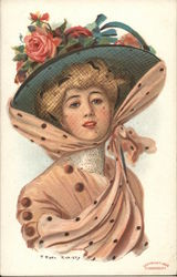 Woman in Floral Hat