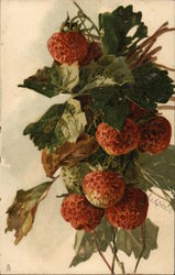 Strawberries and Leaves