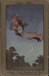 Peter Pan Flying with Girl