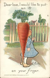 A girl with a large carrot