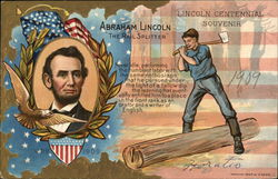 "Abraham Lincoln, ""The Rail Splitter"" Postcard"