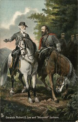 Generals Robert E. Lee and Stonewall Jackson