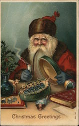 Santa Claus with Pipe Packaging Toys