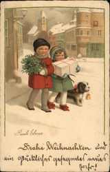 Children with Gifts, Dog