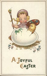 A Joyful Easter - Easter Egg Hatching - Child with Suprised Look