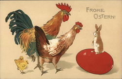 Chicken, Rooster, Chicks, Egg & Bunny