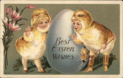 Best Easter Wishes, Children in Chick Costumes