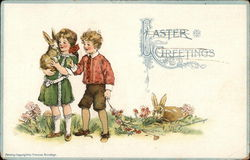 Easter Greetings Postcard