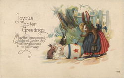 Joyous Easter Greetings - Mama Bunny Painting Egg