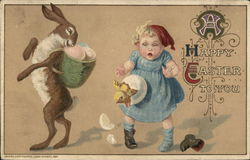 A Happy Easter to You - Child and Bunny