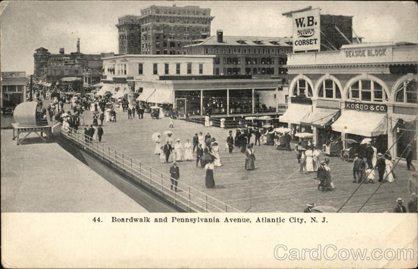 Boardwalk and Pennsylvania Avenue Atlantic City New Jersey