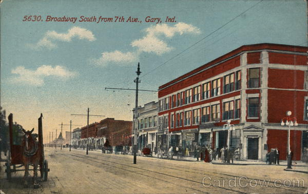 Broadway South from Seventh Avenue Gary Indiana