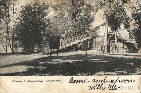 Entrance to Island Park Elkhart Indiana