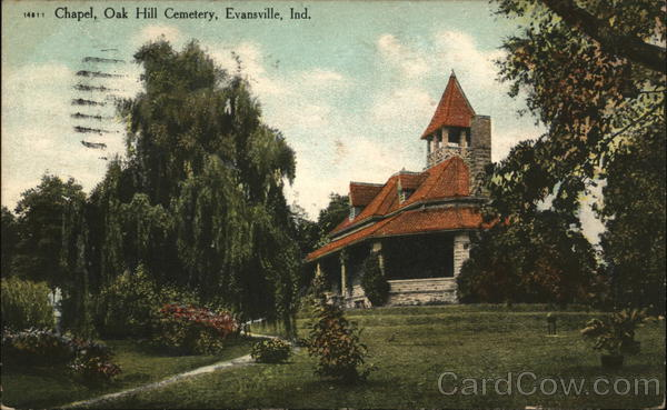 Chapel, Oak Hill Cemetery Evansville Indiana