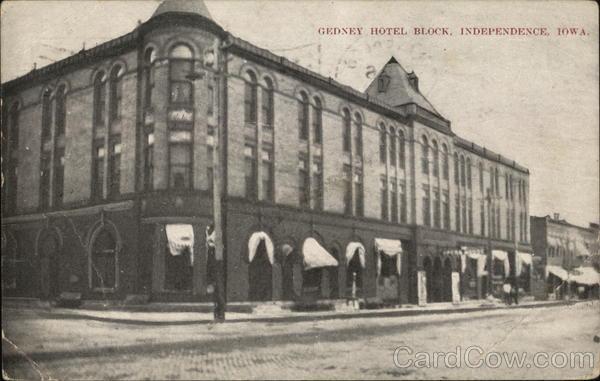 Gedney Hotel Block Independence Iowa