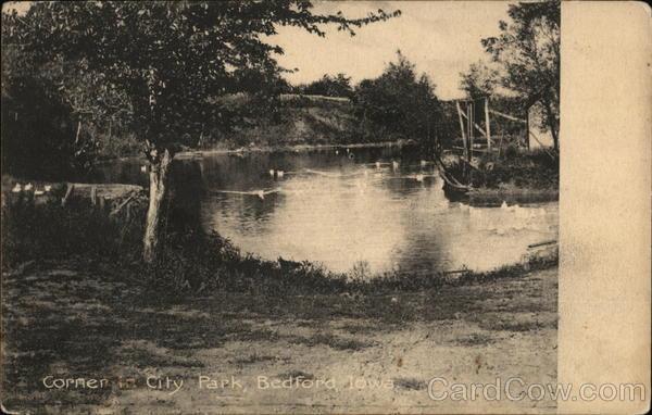 Corner in City Park Bedford Iowa