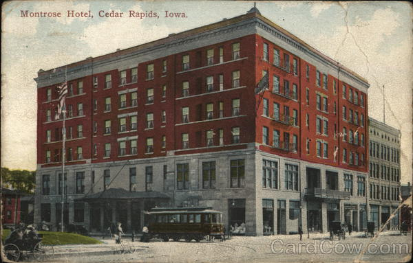 montrose hotel cedar rapids ia postcard. Black Bedroom Furniture Sets. Home Design Ideas