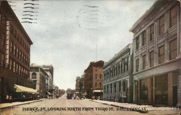Pierce St. Looking North From Third St. Sioux City Iowa