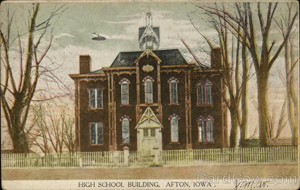 High School Building Afton Iowa