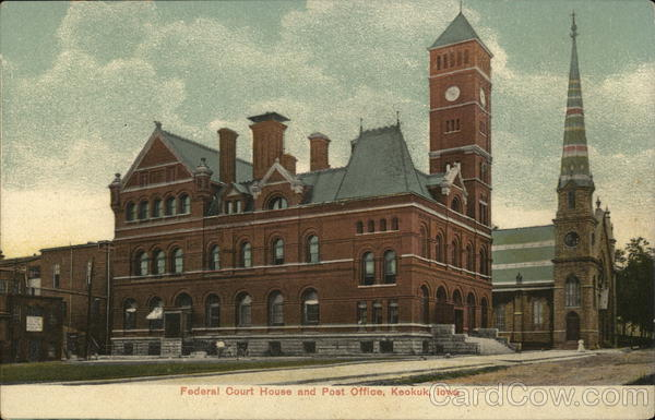 Federal Court House and Post Office Keokuk Iowa