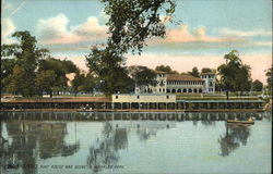 Boat House and Scene in Riverside Park