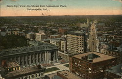 Bird's Eye View, Northeast from Monument Place