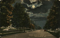 North Meridian Street (at night).