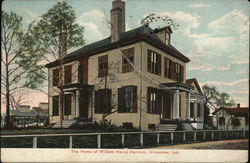 The Home of William Henry Harrison Postcard