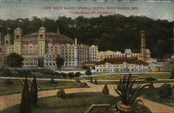 "New West Baden Springs Hotel, ""Carlsbad of America."""
