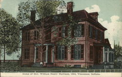 Home of Governor William Henry Harrison, 1804 Postcard