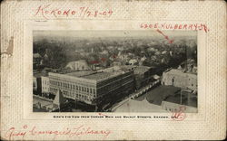 Bird's Eye View From Corner, Main and Walnut Streets