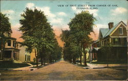 View of First Street from Corner of Oak