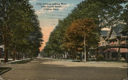 Fifth Avenue, looking West from Fourth Street