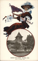 Decorah High School Postcard