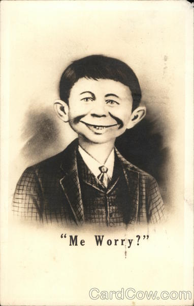 Alfred E. Neuman Me Worry? Comic, Funny